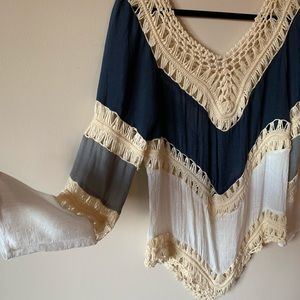 Bell Sleeved Crochet Top